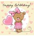 Cute Cartoon Teddy Bear Girl vector image