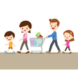 Cute family shopping together vector image vector image