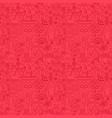 dia de los muertos line seamless pattern vector image