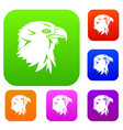 eagle set collection vector image vector image