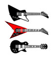 electric guitars set vector image vector image
