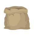 Empty burlap sack Empty bag Bag made of cloth vector image vector image