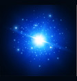 explosion of a star on a dark background light vector image