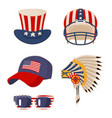flag on items usa symbols vector image vector image