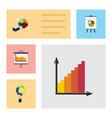 flat icon diagram set of segment diagram vector image vector image