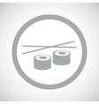 Grey sushi sign icon vector image