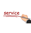 hand writing service word vector image
