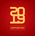 happy new year 2019 background brochure or vector image vector image