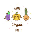happy vegan day vector image
