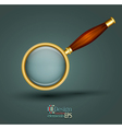 icon magnifier with wooden handle vector image vector image