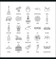 indonesia icons set vector image vector image