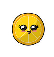 Kawaii cute funny lemon slice fruit