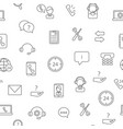 line call support center icons pattern or vector image