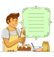 man making cake vector image vector image