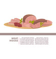 meat house promotional banner with fresh oranic vector image vector image