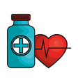 medical healthcare isolated icon vector image vector image