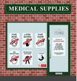 medical supplies sold out vector image vector image