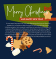merry christmas poster with text sample and vector image