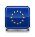 Metal icon of EU vector image