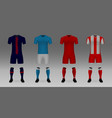 mockup football team uniform vector image