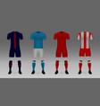 mockup of football team uniform vector image