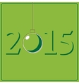 New Years card with stylized retro Christmas ball vector image vector image
