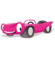 pink cabriolet car vector image