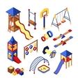 Playground Icons Set vector image