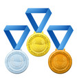 prize medals vector image vector image