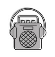 radio music player with earphones vector image vector image