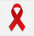 red ribbon aids awareness symbol vector image