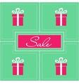 Retro sale poster vector image vector image