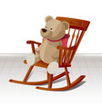 rocking chair 02 vector image