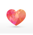 Rose Triangular heart vector image vector image