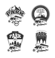 RV and campers emblems labels badges vector image vector image
