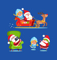 santa and snow maiden icons vector image