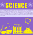 Sciene theme with text and flasks vector image
