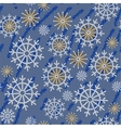 Seamless abstract snowflake grunge texture 534 vector image