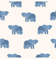 seamless pattern with mother elephant holding its vector image