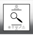 search symbol icon vector image vector image