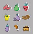set delicious food menu to eat vector image