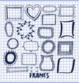 set of cute hand made frames vector image vector image