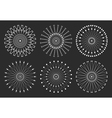 Set of geometric hipster shapes 97rd1black vector image vector image