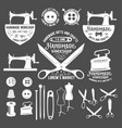 set of vintage tailor labels badges and design vector image vector image