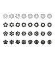 settings icons set vector image vector image