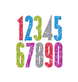 Stylish digits handwritten numerals vector image vector image
