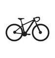 stylish road bicycle silhouette vector image