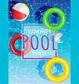 summer pool vector image