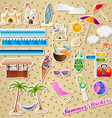 summer stickers vector image vector image