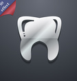 Tooth icon symbol 3D style Trendy modern design vector image